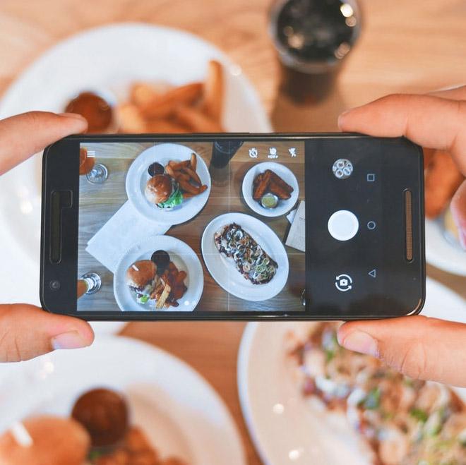 Instagram fotografía a menú