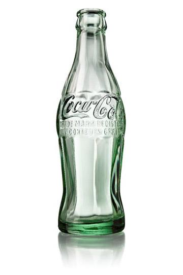 Ejemplo de botella de coca cola registrada
